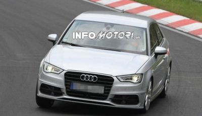 Audi S3: immagini spia senza camuffature della versione sportiva Audi A3