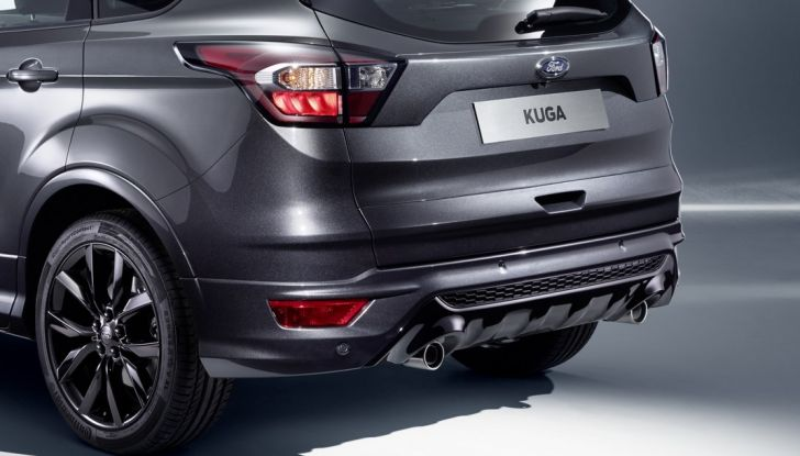 Nuova Ford Kuga, profilo posteriore.