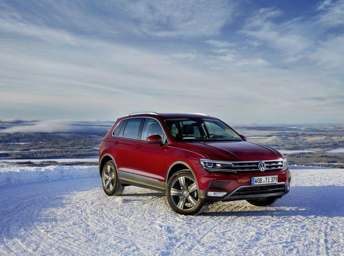 Nuova Volkswagen Tiguan 4Motion: test sulla neve al Winter Drive