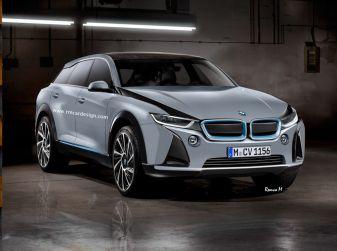 BMW i5 rendering, il SUV elettrico rivale di Tesla Model X