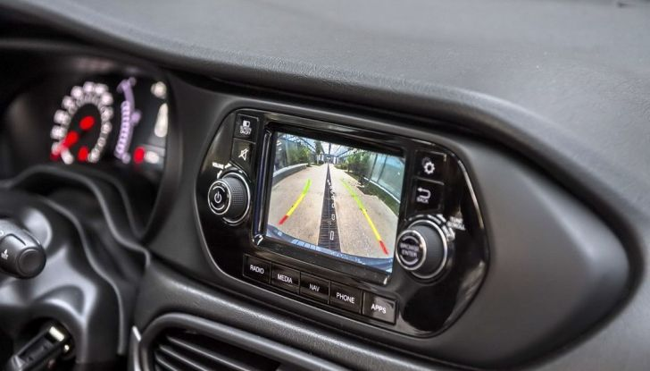 Fiat Tipo SW interno, dettaglio telecamera.