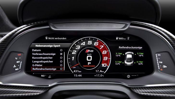 Audi R8 V10 plus cruscotto