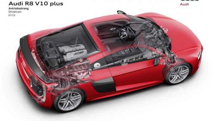 Audi R8 V10 plus powertrain