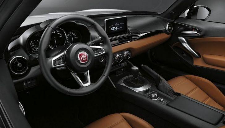 Fiat 124 Spider, interni raffinati.