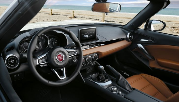 Fiat 124 Spider, interni di lusso.