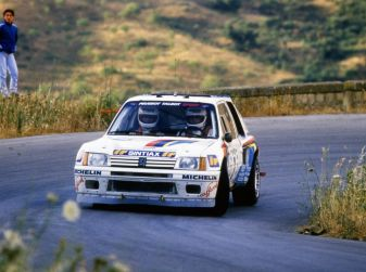 Peugeot 205 T16: l'avventura di Andrea Zanussi e a Paolo Amati