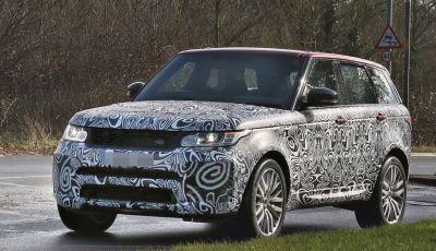 Range Rover Sport SVR, foto spia del facelift