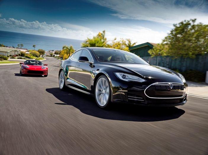 Tesla Model S ricarica wireless