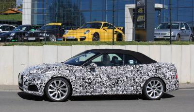 Audi S5 cabrio prime foto spia della scoperta tedesca