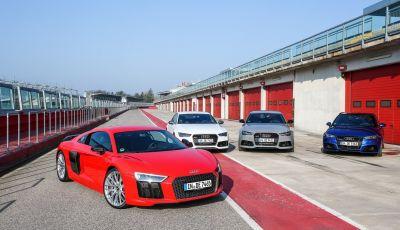 La nuova gamma Audi Sport 2016 con RS3, RS6, RS7 ed R8