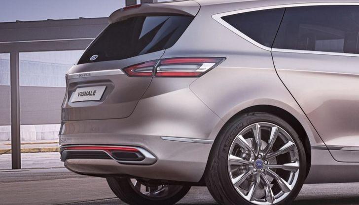 Ford S-Max Vignale, profilo posteriore.