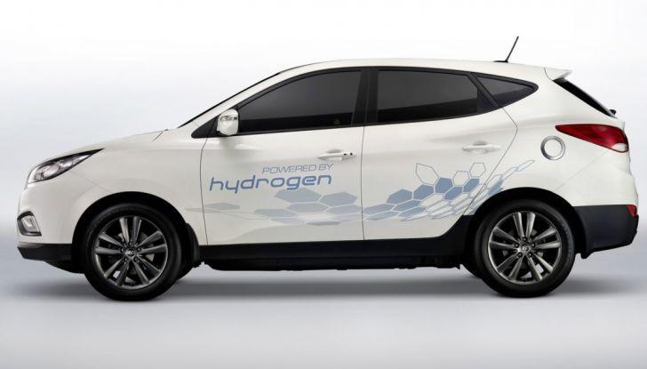 Hyundai Tucson ix35, car sharing a idrogeno, fiancata.