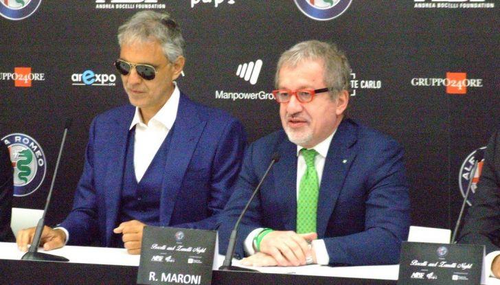 Bocelli e Maroni presentazione