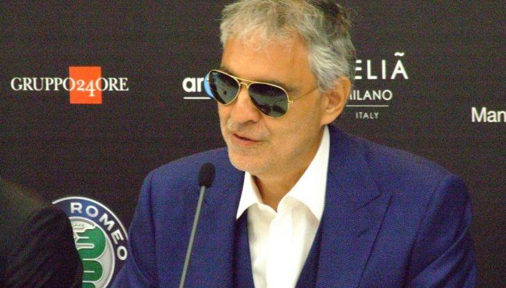 Andrea Bocelli presentazione Alfa Romeo