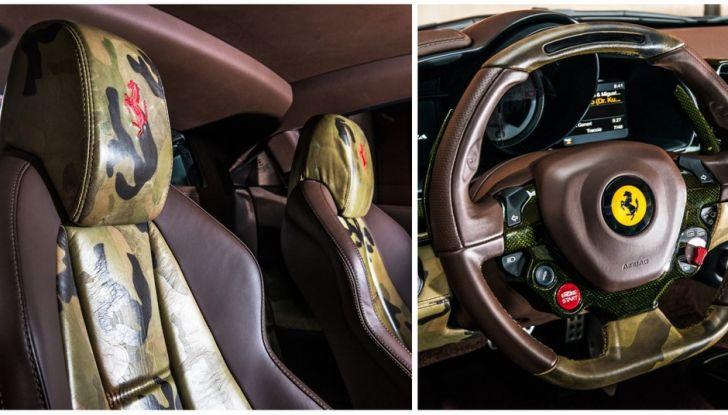 Ferrari 458 Italia camouflage di lapo interno
