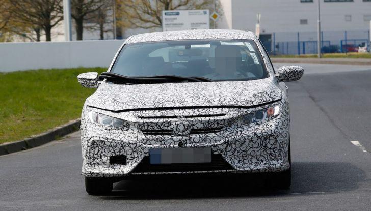 Nuova Honda Civic 2017, foto spia, frontale.
