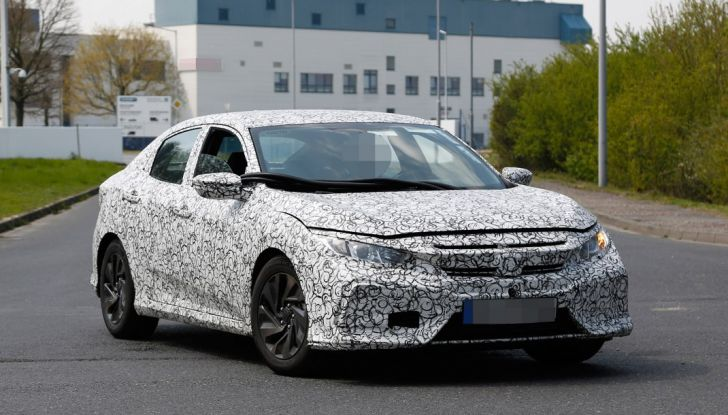 Nuova Honda Civic 2017, foto spia.