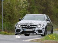 Mercedes E63 AMG wagon, le foto spia dei primi test drive