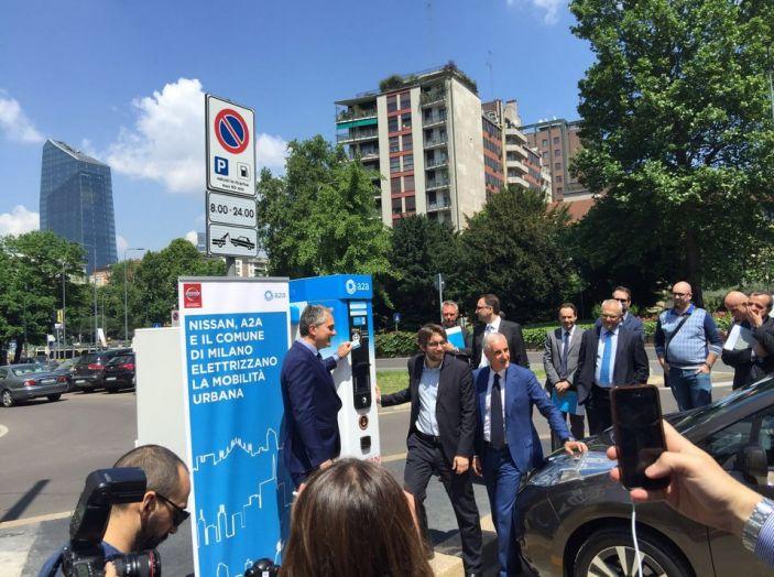 Nissan e A2A, inaugurate a Milano le prime colonnine pubbliche di ricarica rapida per i veicoli elettrici - Foto 15 di 21