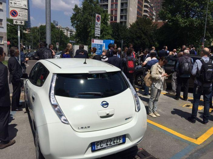 Nissan e A2A, inaugurate a Milano le prime colonnine pubbliche di ricarica rapida per i veicoli elettrici - Foto 5 di 21