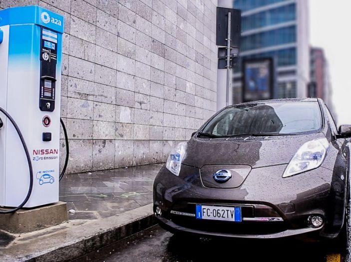 Nissan e A2A, inaugurate a Milano le prime colonnine pubbliche di ricarica rapida per i veicoli elettrici - Foto 7 di 21