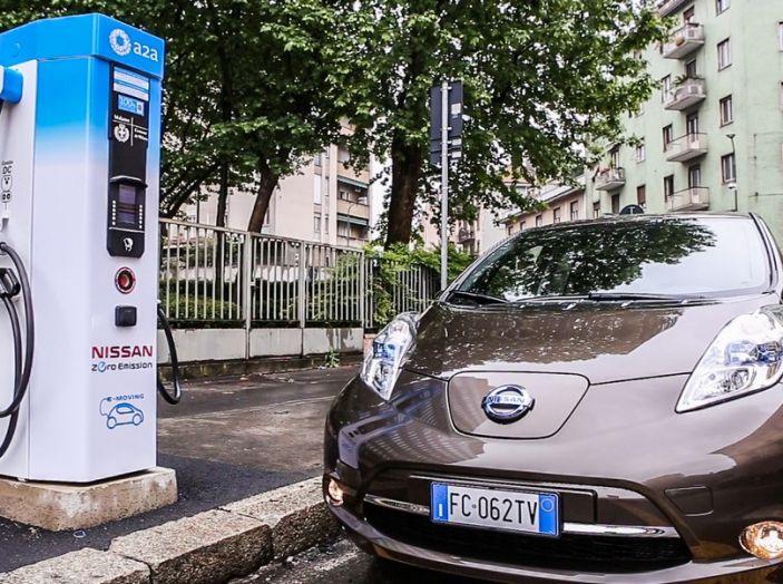 Nissan e A2A, inaugurate a Milano le prime colonnine pubbliche di ricarica rapida per i veicoli elettrici - Foto 1 di 21