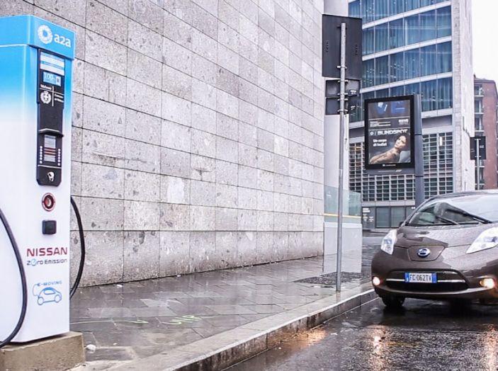 Nissan e A2A, inaugurate a Milano le prime colonnine pubbliche di ricarica rapida per i veicoli elettrici - Foto 17 di 21
