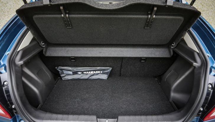 Nuova Suzuki Baleno S bagagliaio