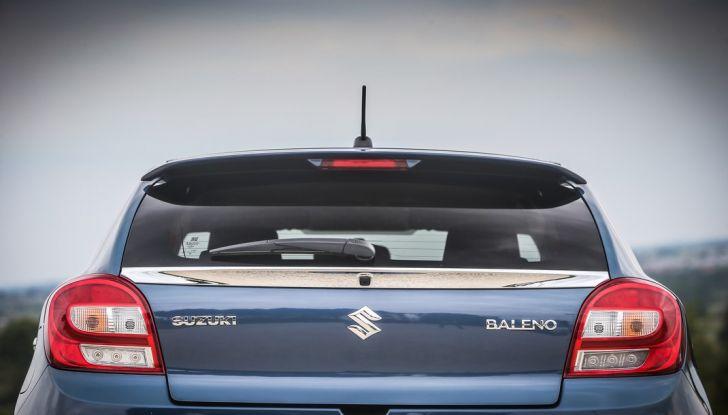 Nuova Suzuki Baleno S posteriore