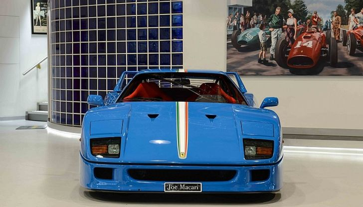 1992 ferrari f40 blue frontale