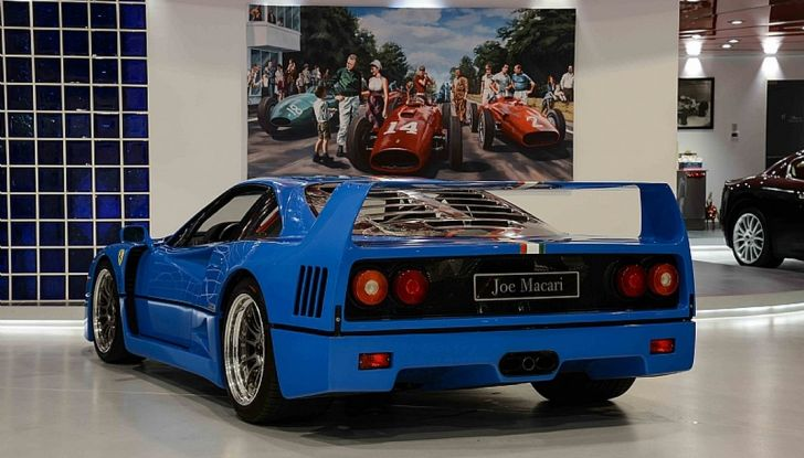 1992 ferrari f40 blue posteriore