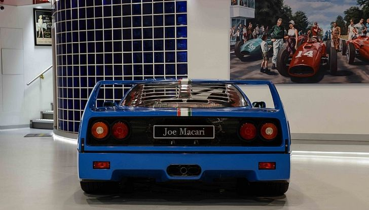 1992 ferrari f40 blue joe Macari