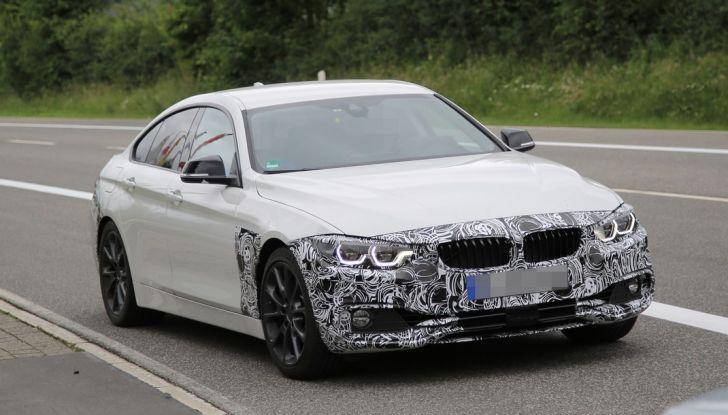 BMW Serie 4 GranCoupe facelift, le prime immagini spia senza camuffature (1)