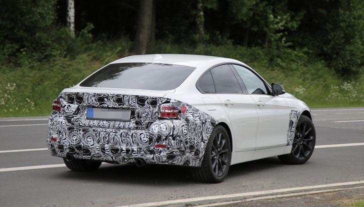 BMW Serie 4 GranCoupe facelift, le prime immagini spia senza camuffature (7)