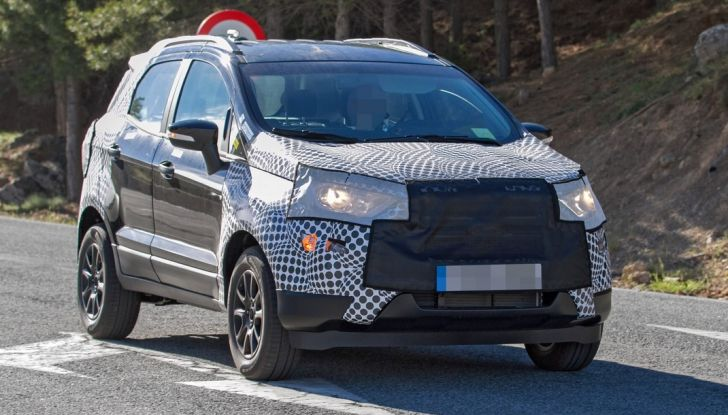 Ford EcoSport restyling: ecco le ultime foto spia.