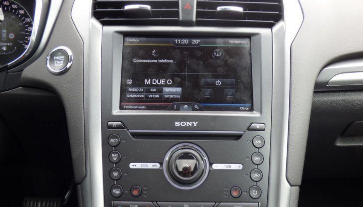 Nuova Ford Mondeo Titanium 2.0 TDCi 180 CV prova su strada e prezzi, connettività.