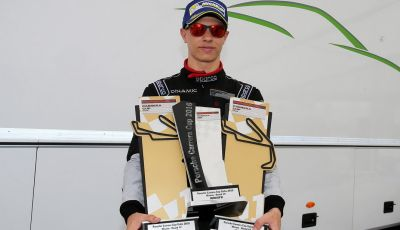 Mattia Drudi segna una tripletta a Misano nella Carrera Cup Italia