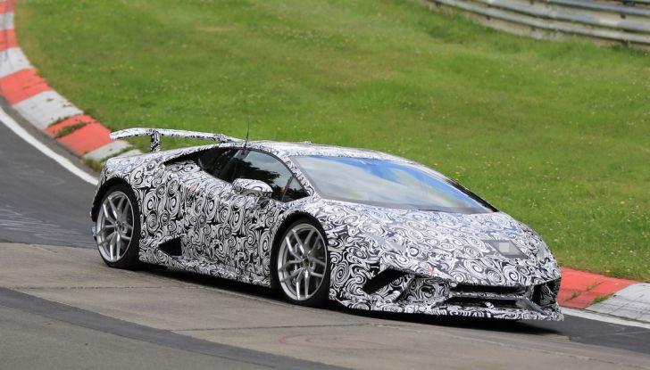 Lamborghini Huracan Superleggera 2017: le foto spia dei test al Nurburgring - Foto 16 di 20