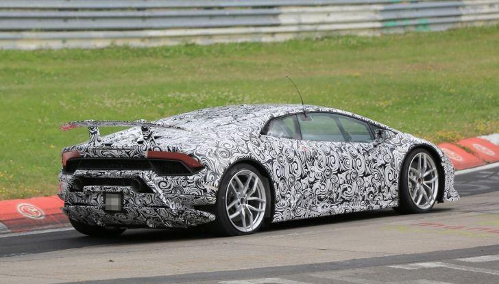 Lamborghini Huracan Superleggera 2017: le foto spia dei test al Nurburgring - Foto 18 di 20