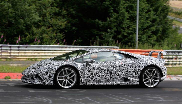 Lamborghini Huracan Superleggera 2017: le foto spia dei test al Nurburgring - Foto 5 di 20