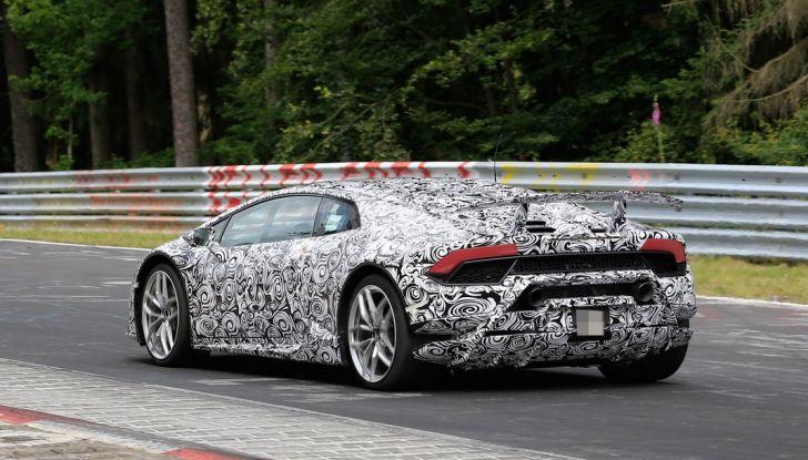 Lamborghini Huracan Superleggera 2017: le foto spia dei test al Nurburgring - Foto 7 di 20