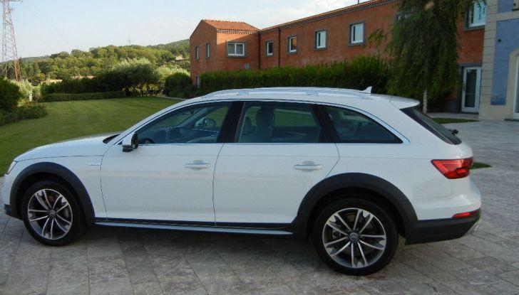 Nuova Audi A4 allroad quattro laterale