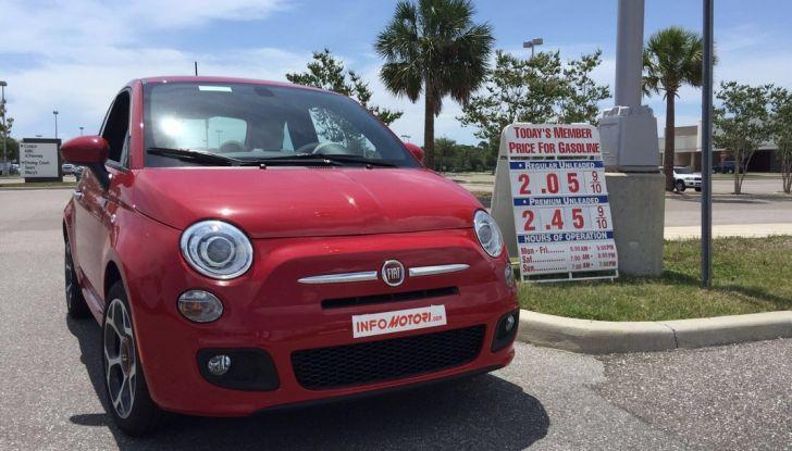 Fiat 500, prova su strada in Usa.
