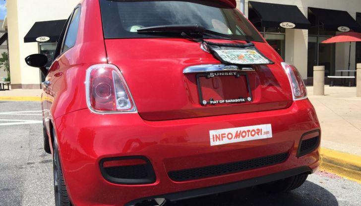 Fiat 500, prova su strada, posteriore.