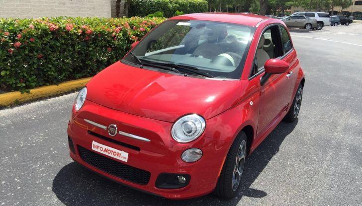 Fiat 500, prova su strada, 3/4 anteriore laterale.