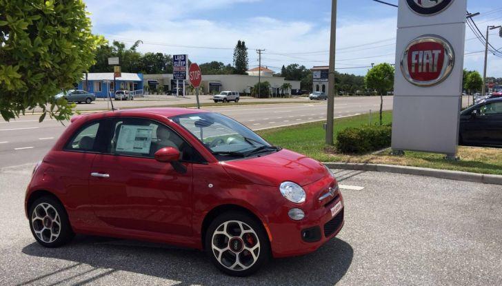 Fiat 500, prova su strada in Florida.