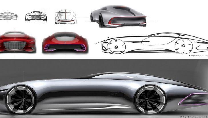 Vision Mercedes-Maybach 6: una concept elettrica da 750 CV - Foto 15 di 21