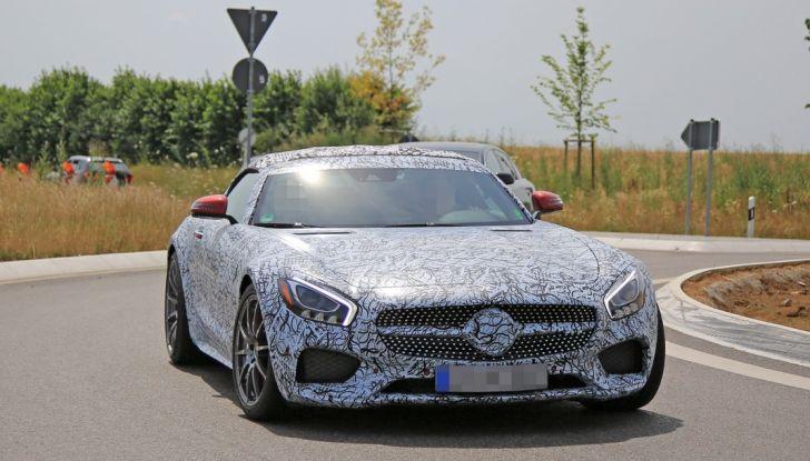 Mercedes AMG GT Roadster, le prime immagini spia dei test - Foto 10 di 10