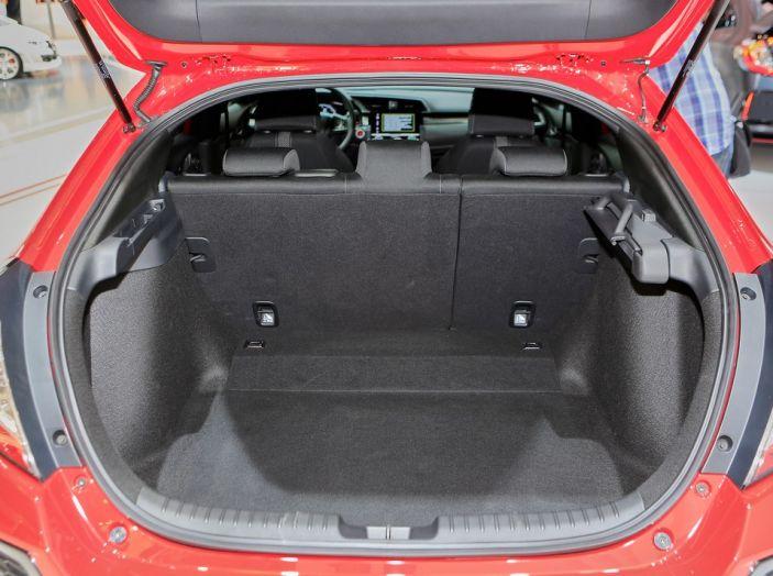 Nuova Honda Civic, bagagliaio.