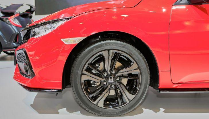 Nuova Honda Civic, profilo anteriore.